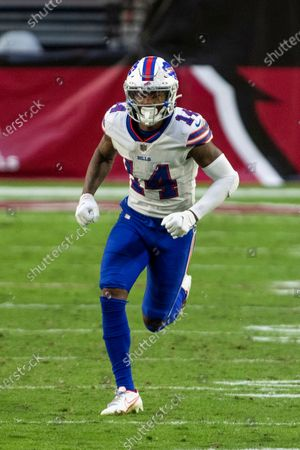 Buffalo Bills wide receiver Stefon Diggs (14) in action against the Arizona Cardinals during an NFL football game, in Glendale, Ariz