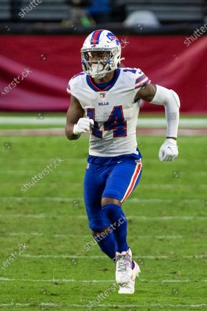 Stock Picture of Buffalo Bills wide receiver Stefon Diggs (14) in action against the Arizona Cardinals during an NFL football game, in Glendale, Ariz