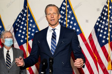 U.S. Senator John Thune (R-SD) speaks at a Republican Senate Caucus Leadership press conference.