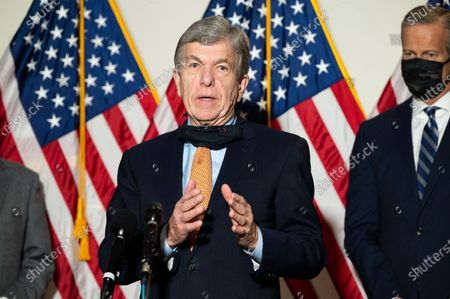 U.S. Senator Roy Blunt (R-MO) speaks at a Republican Senate Caucus Leadership press conference.