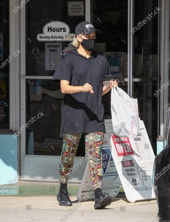 Editorial image of Peta Murgatroyd out and about, Los Angeles, USA - 17 Nov 2020