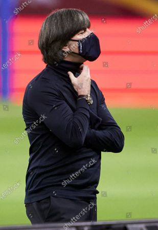Stock Picture of Joachim Low, Manager of Germany looks on prior to the UEFA Nations League group stage match between Spain and Germany at Estadio de La Cartuja on November 17, 2020 in Seville, Spain.