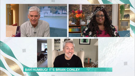 Stock Photo of Phillip Schofield, Alison Hammond and Brian Conley