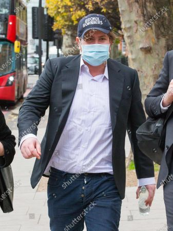Stock Photo of James Stunt leaves Westminster Magistrates Court this morning after appearing charged with possessing cocaine and damaging a police cell. Stunt, 38, ex-husband of F1 heiress Petra Ecclestone, is also accused of assaulting and harassing a business associate.