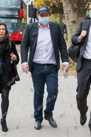Stock Image of James Stunt leaves Westminster Magistrates Court this morning after appearing charged with possessing cocaine and damaging a police cell. Stunt, 38, ex-husband of F1 heiress Petra Ecclestone, is also accused of assaulting and harassing a business associate.