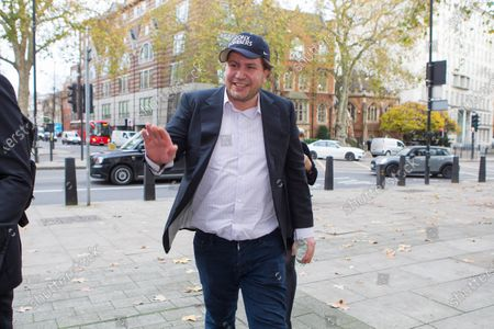 James Stunt arrives at Westminster Magistrates Court this morning charged with possessing cocaine and damaging a police cell. Stunt, 38, ex-husband of F1 heiress Petra Ecclestone, is also accused of assaulting and harassing a business associate..