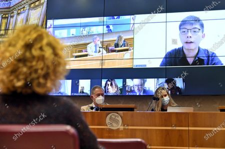 Editorial photo of Joshua Wong's video-conference lesson on liberty in Italian Senate, Rome, Italy - 18 Nov 2020
