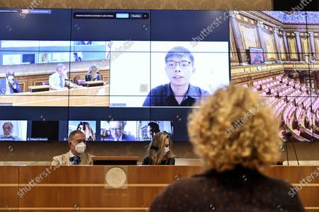 Editorial picture of Joshua Wong's video-conference lesson on liberty in Italian Senate, Rome, Italy - 18 Nov 2020