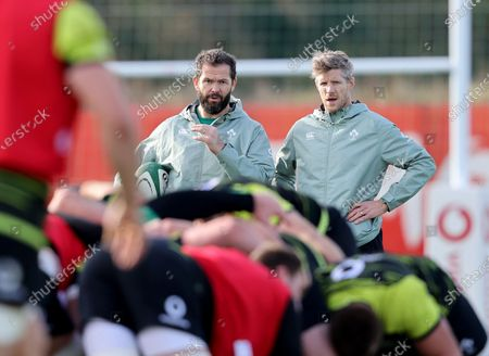 Head coach Andy Farrell and assistant coach Simon Easterby