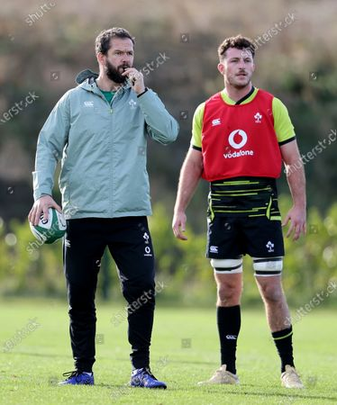 Head coach Andy Farrell and Will Connors