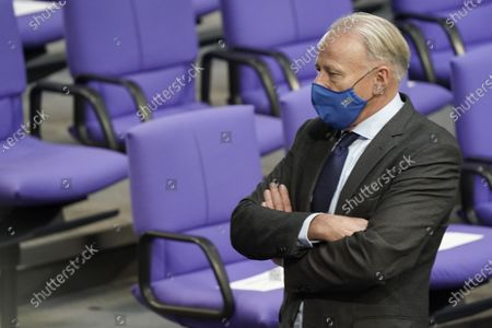 Juergen Trittin in the plenum at the 191st session of the German Bundestag in Berlin