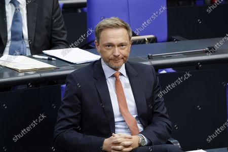 Christian Lindner in the plenum at the 191st session of the German Bundestag in Berlin