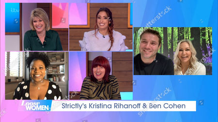 Ruth Langsford, Stacey Solomon, Brenda Edwards, Janet Street-Porter and Ben Cohen amd Kristina Rihanoff