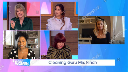 Ruth Langsford, Stacey Solomon, Brenda Edwards, Janet Street-Porter and Sophie Hinchliffe, Mrs Hinch