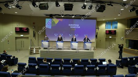 Valdis Dombrovskis, Paolo Gentiloni and Nicolas Schmit
