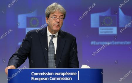 Editorial picture of European Semester Autumn package press conference, Brussels, Belgium - 18 Nov 2020