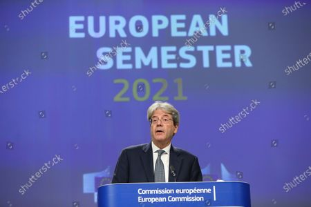 Editorial image of European Semester Autumn package press conference, Brussels, Belgium - 18 Nov 2020