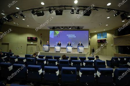 Editorial photo of European Semester Autumn package press conference, Brussels, Belgium - 18 Nov 2020