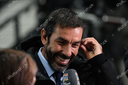 Former player Robert Pires before the match between France and Sweden at the Stade de France