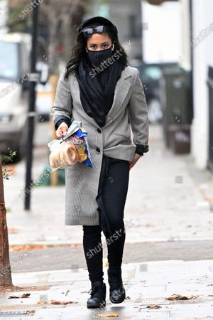 Exclusive - Alex Scott out and about in Primrose Hill