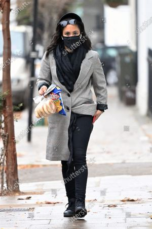 Editorial picture of Exclusive - Alex Scott out and about, London, UK - 18 Nov 2020