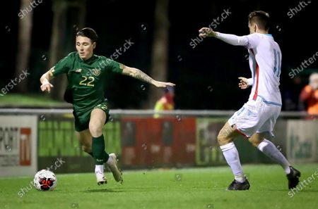 Luxembourg vs Republic of Ireland. Ireland's Danny McNamara