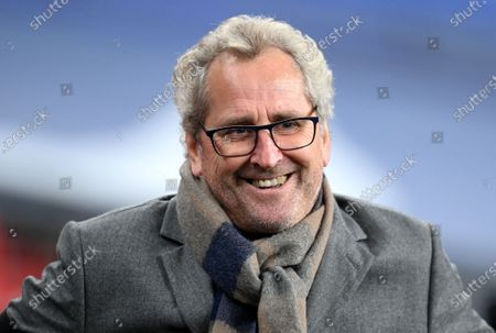 Stock Image of Iceland's head coach Erik Hamren smiles during the UEFA Nations League soccer match between England and Iceland in London, Britain, 18 November 2020.