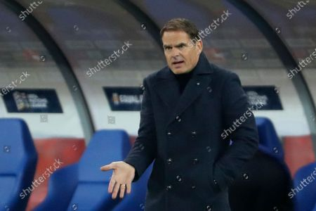 Netherlands' coach Frank de Boer gives directions to his players during the Nations League soccer match between Poland and The Netherlands at Silesian Stadium in Chorzow, Poland