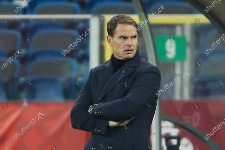 Netherlands' coach Frank de Boer looks at his players during the Nations League soccer match between Poland and The Netherlands at Silesian Stadium in Chorzow, Poland