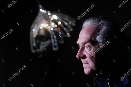 Irish hat designer Philip Treacy attends a press preview of his exhibition 'Philip Treacy. The Maestro' at the Erarta Museum in St. Petersburg, Russia, 18 November 2020. The exhibiton dedicated to the Haute Couture milliner opens to the public from 20 November 2020 to 21 March 2021.