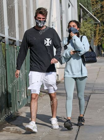 Drew Taggart and Chantel Jeffries seen walking in West Hollywood