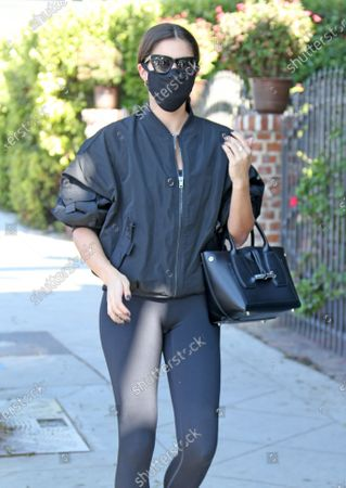Sara Sampaio heads into the gym in West Hollywood