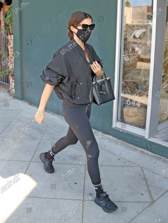 Stock Image of Sara Sampaio heads into the gym in West Hollywood