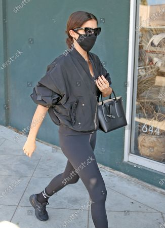 Stock Picture of Sara Sampaio heads into the gym in West Hollywood