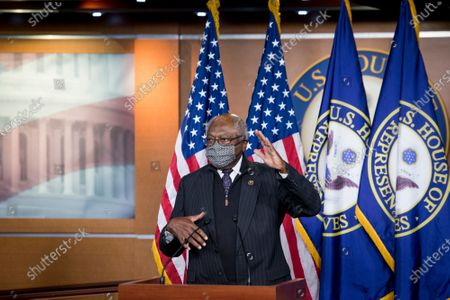 United States House Assistant Democratic Leader James Clyburn (Democrat of South Carolina) offers remarks as he is joined by Speaker of the United States House of Representatives Nancy Pelosi (Democrat of California) and other members of the House Democratic leadership, to offer remarks and field questions from reporters during a press conference at the US Capitol in Washington, DC,.