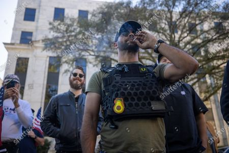 Editorial image of 'Stop the Steal' protest, Atlanta, USA - 18 Nov 2020