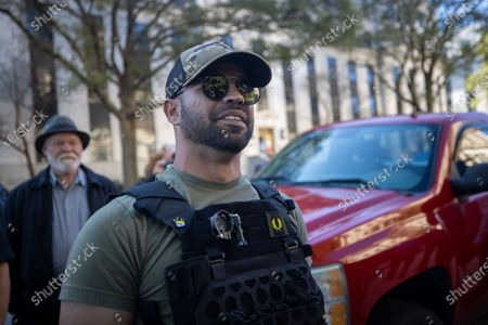 Editorial picture of 'Stop the Steal' protest, Atlanta, USA - 18 Nov 2020