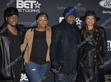 Stock Image of Bobby Brown Jr., Guest, Bobby Brown and Alicia Brown