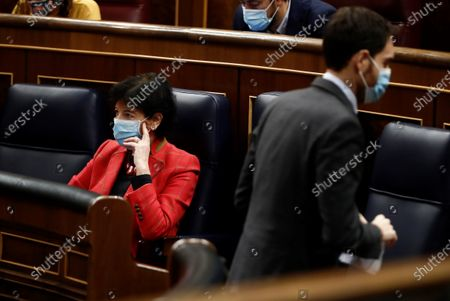 Spanish Education Minister, Isabel Celaa, is seen at the Lower House in Madrid, Spain, 19 November 2020. The new Education bill is to be voted at the Lower House amidst criticism amongst the opposition parties as the new law would allow regions with a second language such as Catalans, Basques or Galicians to choose in which language are students taught at school.