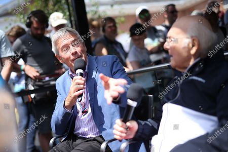 2017 Goodwood Festival of Speed. Goodwood Estate, West Sussex, England. 30th June - 2nd July 2017. Tiff Needell (GBR) and Murray Walker (GBR)  World Copyright : JEP/LAT Images