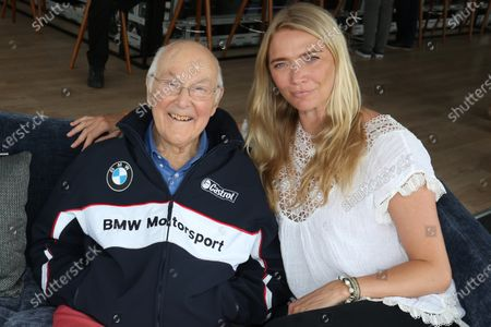 Stock Image of 2017 Goodwood Festival of Speed. Goodwood Estate, West Sussex, England. 30th June - 2nd July 2017. Murray Walker and Jodie Kidd World Copyright : JEP/LAT Images