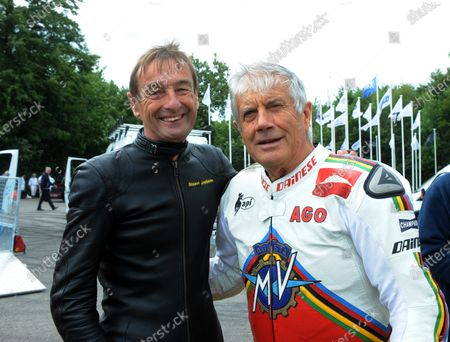 2017 Goodwood Festival of Speed Goodwood Estate, West Sussex,England 30th June - 2nd July2017 Stuart Graham and Giacomo Agostini World Copyright : Jeff Bloxham/LAT Images Ref : Digital Image