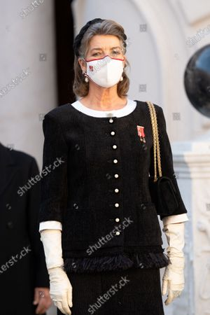 Princess Caroline of Hanover attends a medal ceremony at the Monaco Palace
