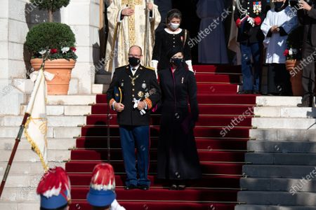 Editorial image of National Day Celebrations, cathedral of Monaco, Monte-Carlo, Monaco - 19 Nov 2020