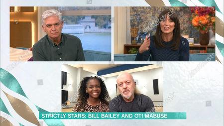 Stock Picture of Phillip Schofield, Davina McCall, Bill Bailey, Otlile Mabuse
