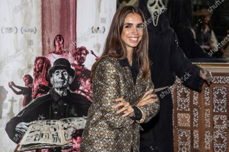 Elena Furiase poses during the presentation of the film 'Vampus Horror Tales' at the Wax Museum in Madrid, Spain, 19 November 2020.