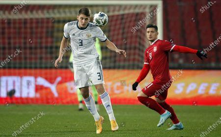 Editorial picture of Serbia v Russia, UEFA Nations League, Football, Rajko Mitic Stadium, Belgrade, Serbia - 18 Nov 2020