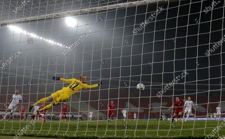 Editorial photo of Serbia v Russia, UEFA Nations League, Football, Rajko Mitic Stadium, Belgrade, Serbia - 18 Nov 2020