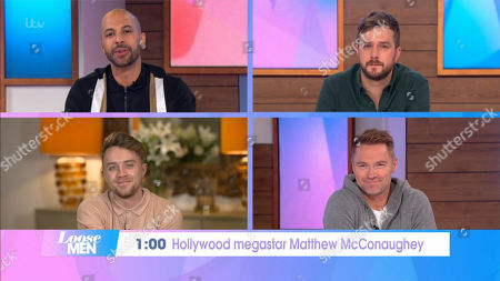 Marvin Humes, Roman Kemp, Ronan Keating, Iain Stirling