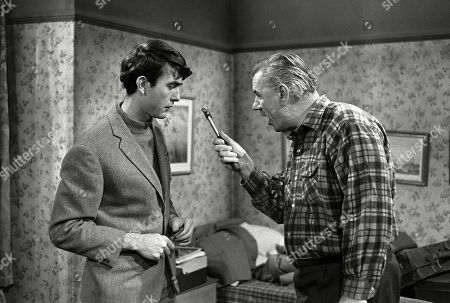 Stock Image of Please Sir! SR01 Ep03 - Maureen Bullock Loves Sir: John Alderton, as Bernard Hedges, and Alister Williamson, as Mr. Duffy